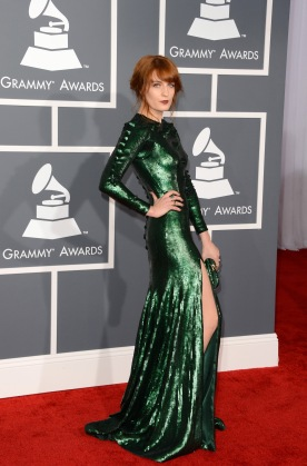 Florence Welch arrives at the 55th Annual Grammy Awards at Staples Center on Feb. 10, 2013. (credit: Jason Merritt/Getty Images)