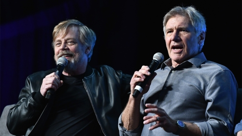 ORLANDO, FL - APRIL 13   Mark Hamill ;Harrison Ford attends the Star Wars Celebration day 01 on April 13, 2017 in Orlando, Florida.  (Photo by Gustavo Caballero/Getty Images)