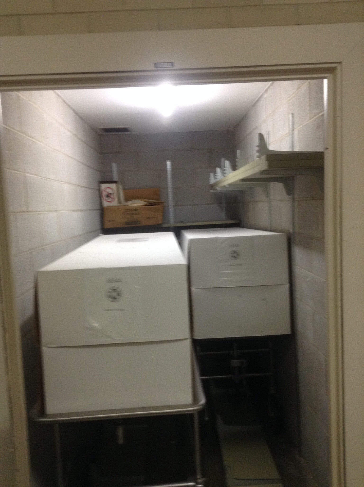 Cadavers stored in cardboard boxes found in a   closet at Malcolm X College. (Credit: Dennis Stefanowicz)