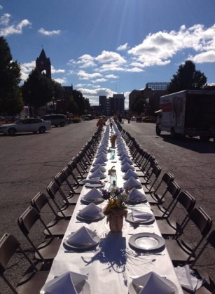 This is the view from this weekend's streetside dinner in LaPorte, Ind. (Mike Krauser)