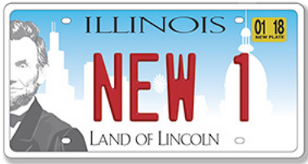 New Illinois license plates (Credit: Illinois Secretary of State office)