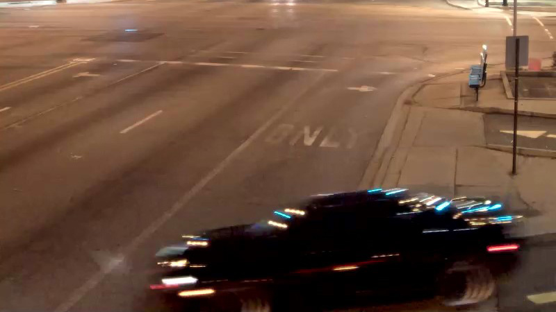 Surveillance image of a car that struck a pedestrian in Forest Park on Jan. 22, 2017. (Credit: Forest Park Police)