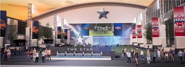 Mock-up of 'The Star' plaza in Frisco (Image courtesy Dallas Cowboys)