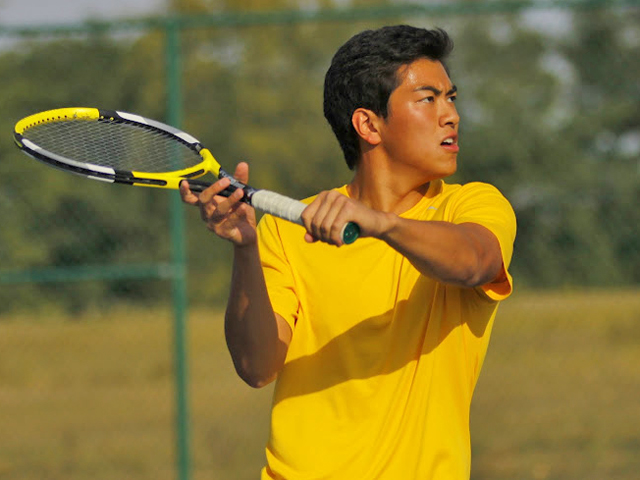Senior Austin Jiang is a three-time All-MIAC selection, but this year is his first leading Carleton College at No. 1 singles. (credit: Carleton College)