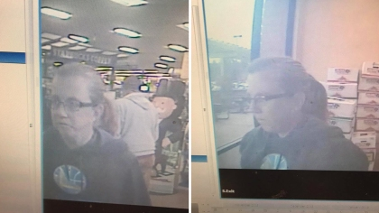 Surveillance photos of the suspect. (Credit: Grass Valley Police)