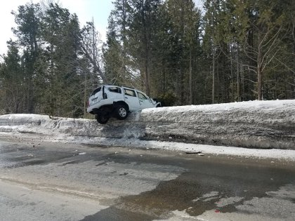The chase ended when Paget crashed. (Credit: El Dorado County Sheriff's Office)