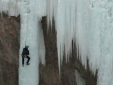 Ice climbing in Ouray (credit: CBS)