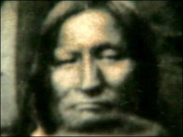 The Indians that Chivington attacked were camped at a site on the sagebrush- and yucca-dotted plains assigned to them by the U.S. Army. When the attack started, Southern Cheyenne Chief Black Kettle hurriedly hoisted a U.S. flag above his lodge, but to no avail. Black Kettle survived but was killed in an attack in Washita, Okla. in 1868 by soldiers led by Col. George Armstrong Custer. (credit: Colorado Historical Society)