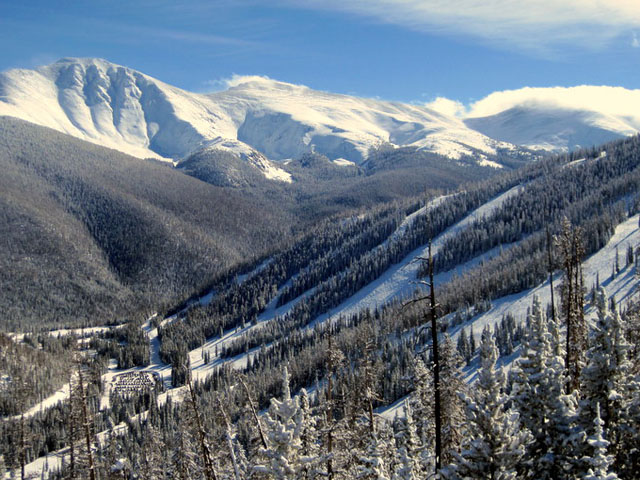 A view of the Continental Divide and Mary Jane ski area from the Zephyr Express Lift at Winter Park Resort. (credit: Laurie Talbott, photo taken Jan. 20, 2011)