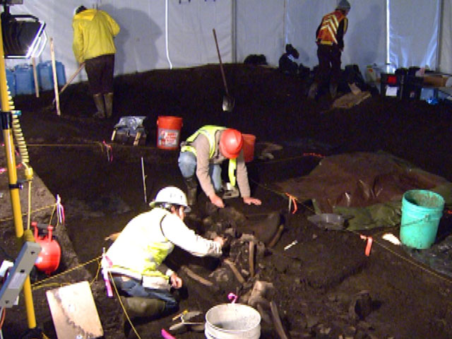 An image from the dig site in Snowmass Village (credit: CBS)