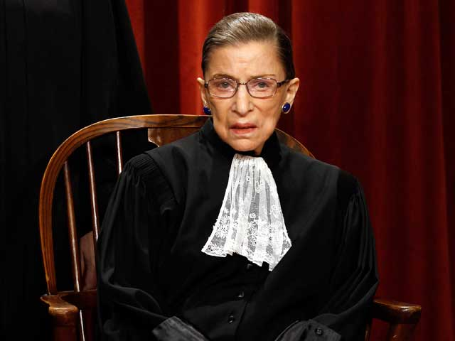Supreme Court Justice Ruth Bader Ginsburg was successfully treated for colon cancer in 1999 and gets screened yearly. In 2009, a CT scan revealed a small cancer in the center of her pancreas. (credit: Chip Somodevilla/Getty Images)