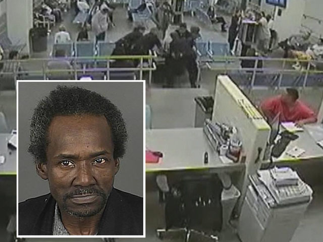 Images from the security video showing Marvin Booker's death (credit: Denver Jail)