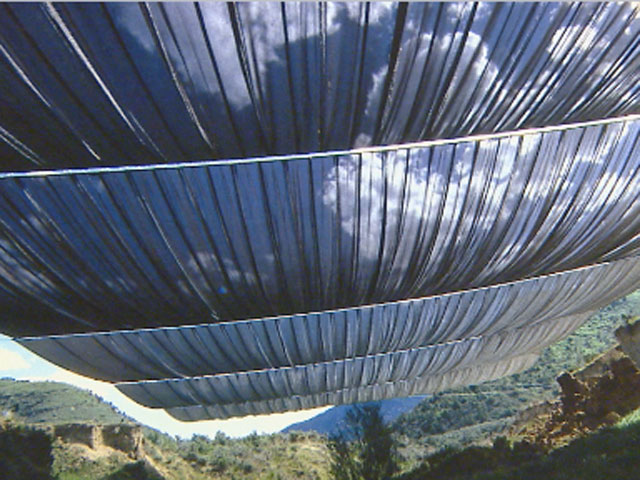 """An artist's rendition of what Christo's project """"Over the River"""" will look like. (credit: CBS)"""