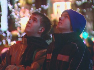 Temperatures were in the upper 20s in Denver for the fireworks downtown on the 16th Street Mall on the evening of Dec. 31, 2011. (credit: CBS)