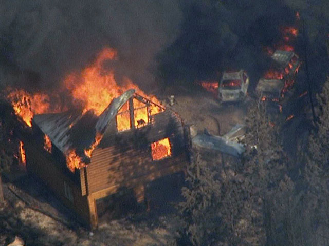 An image from Copter4 during the High Park Fire on June 22 (credit: CBS)