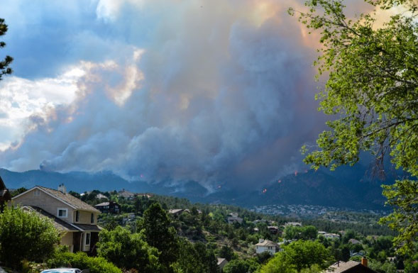 Diana Webb took this photo on June 26 when the Waldo Canyon Fire exploded.