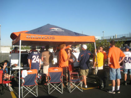 Get to your Broncos tailgate with public transportation (Credit: Mary Jeneverre Schultz)