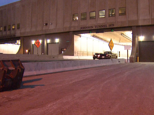 The west entrance of the Eisenhower-Johnson Tunnel. (credit: CBS)