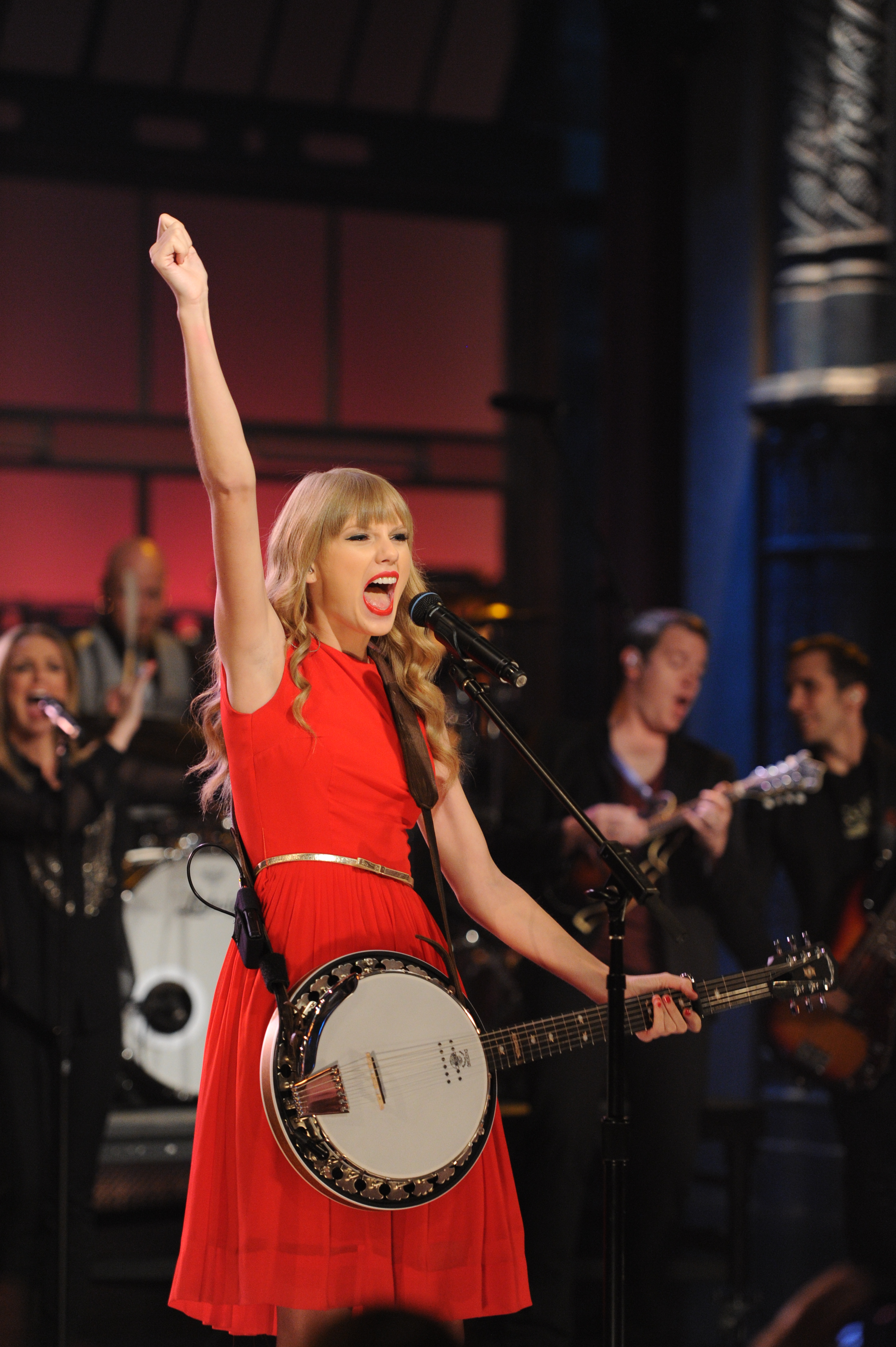 Taylor Swift at the Ed Sullivan Theater in New York