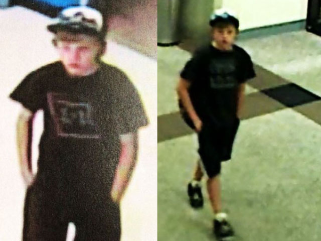 Dylan Redwine, in images from surveillance video at the Durango Airport, right, and in a Durango Walmart on the day before he disappeared. (credit: La Plata County Sheriff)
