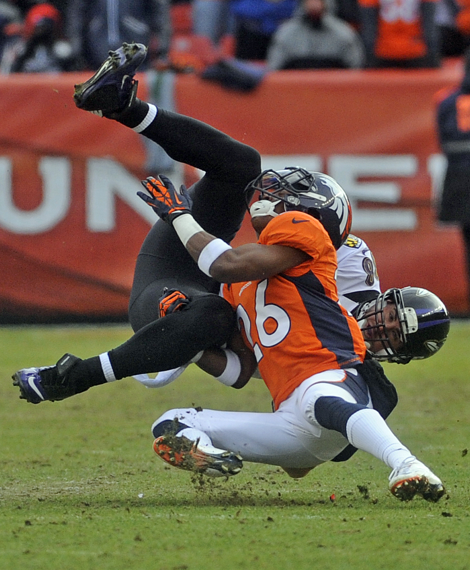 An image from the Broncos-Ravens game at Sports Authority Field at Mile High on Jan. 12, 2013. (credit: Evan Semón/CBS4)