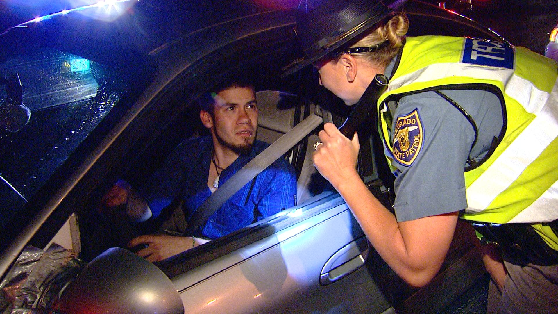 An image from a police checkpoint in 2013 (credit: CBS)