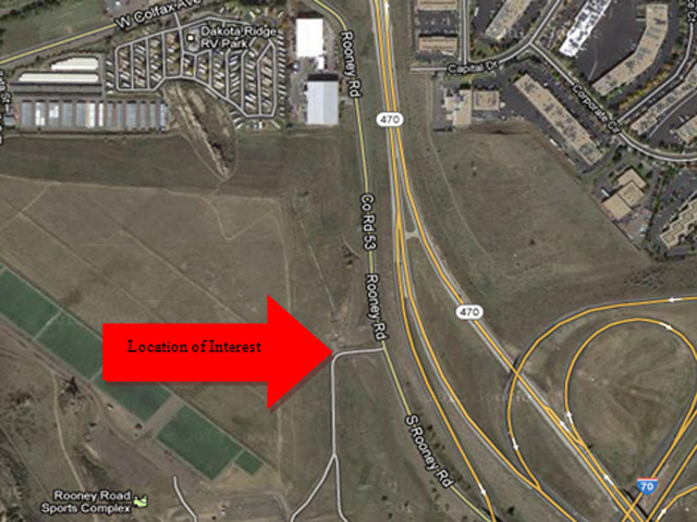 The area where Nathan Leon'[s body was found (credit: Denver Police Department)