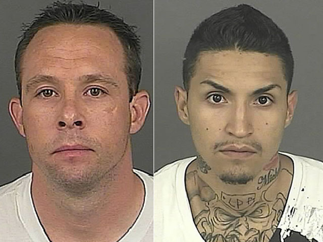 Matthew Andrews, left, and Felix Trujillo, right (credit: Denver Police)