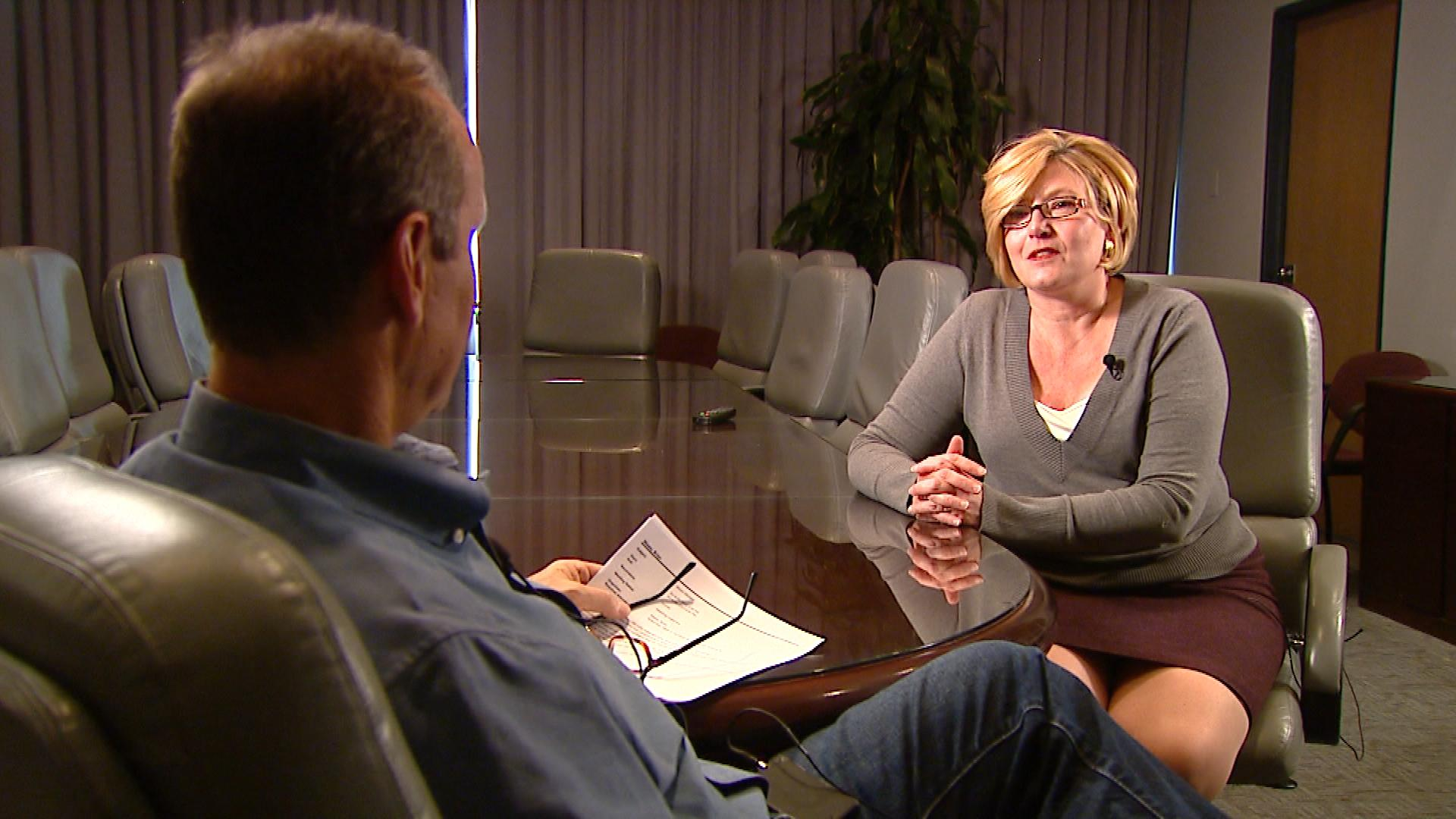 CBS4's Brian Maass talks with Alison Morgan, department spokesperson (credit: CBS)