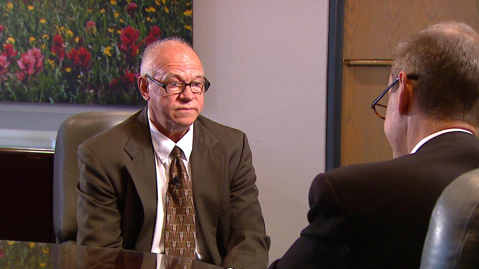 CBS4's Brian Maass talks with DOC Interim Executive Director Roger Werholtz (credit: CBS)
