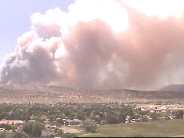 An image of the fire (credit: coloradolivecams.com)