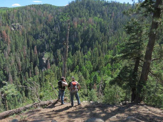 The search of Middle Mountain (credit: La Plata Co. Sheriff)