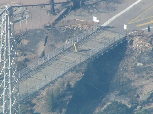 Royal Gorge Fire (credit: CBS)