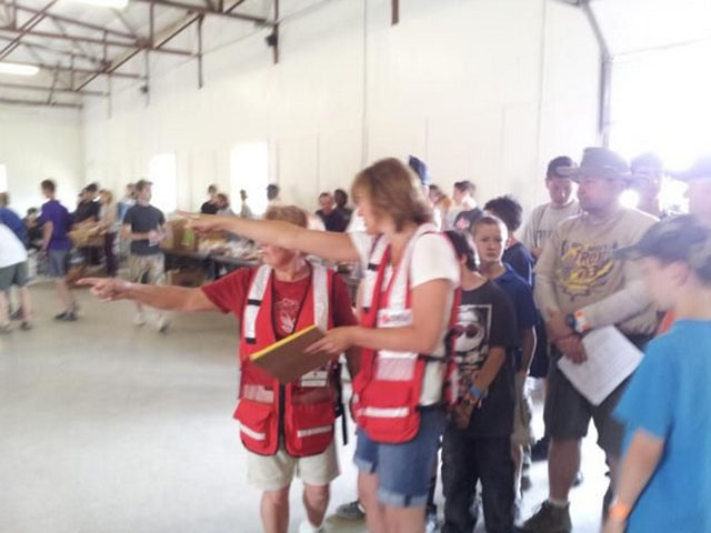 An image from the Elbert County Shelter that was set up for evacuees of the Black Forest Fire. (credit: American Red Cross)