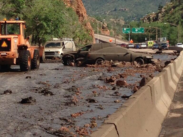 An image from the mudslide (credit: Colorado State Police)