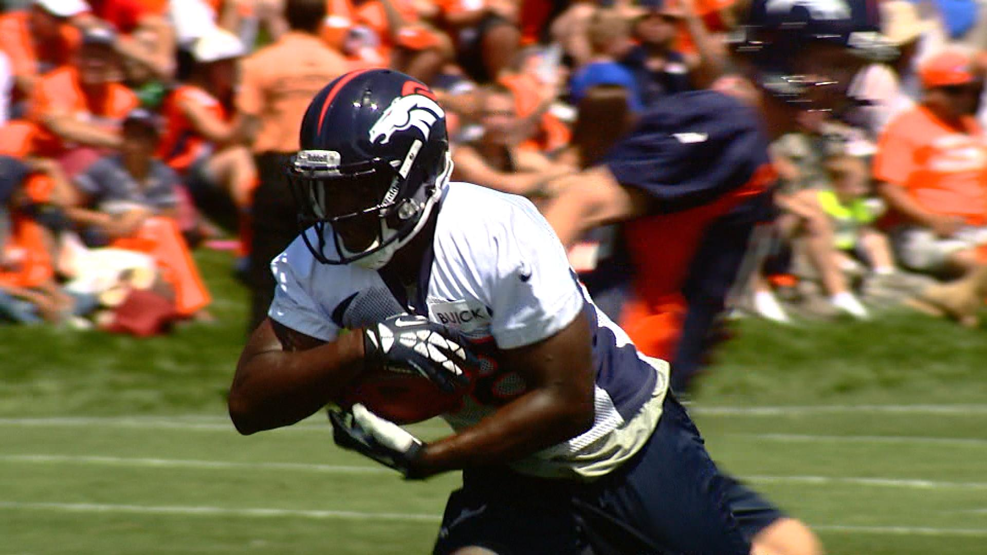 Montee Ball at training camp (credit: CBS)