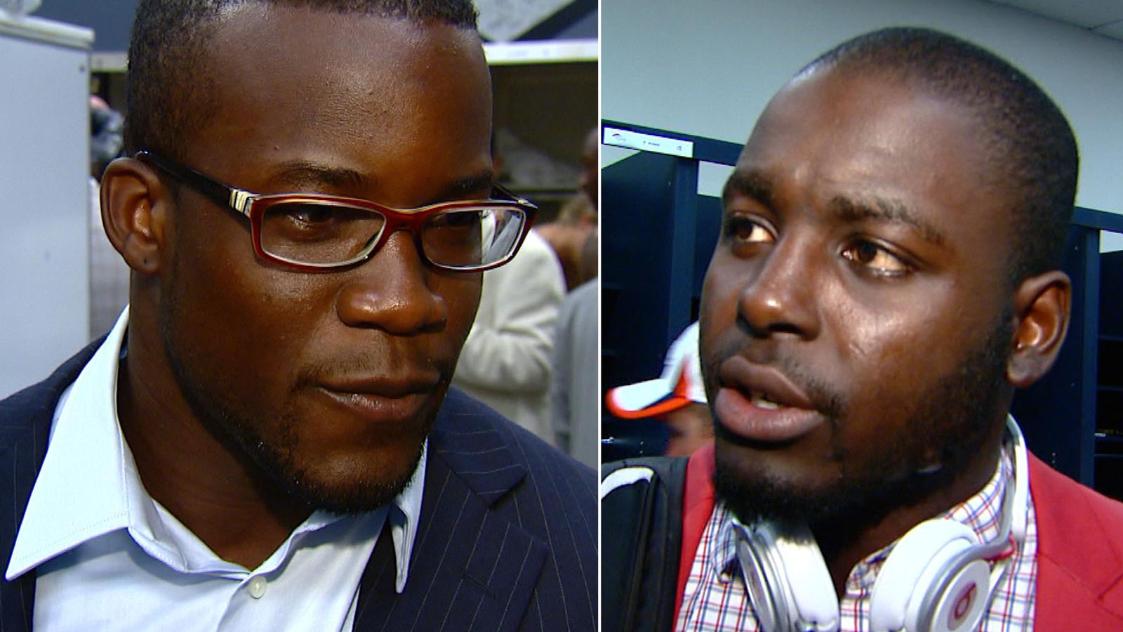 Ronnie Hillman, left, and Montee Ball (credit: CBS)