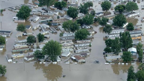 A mobile home park in Evans (credit: CBS)