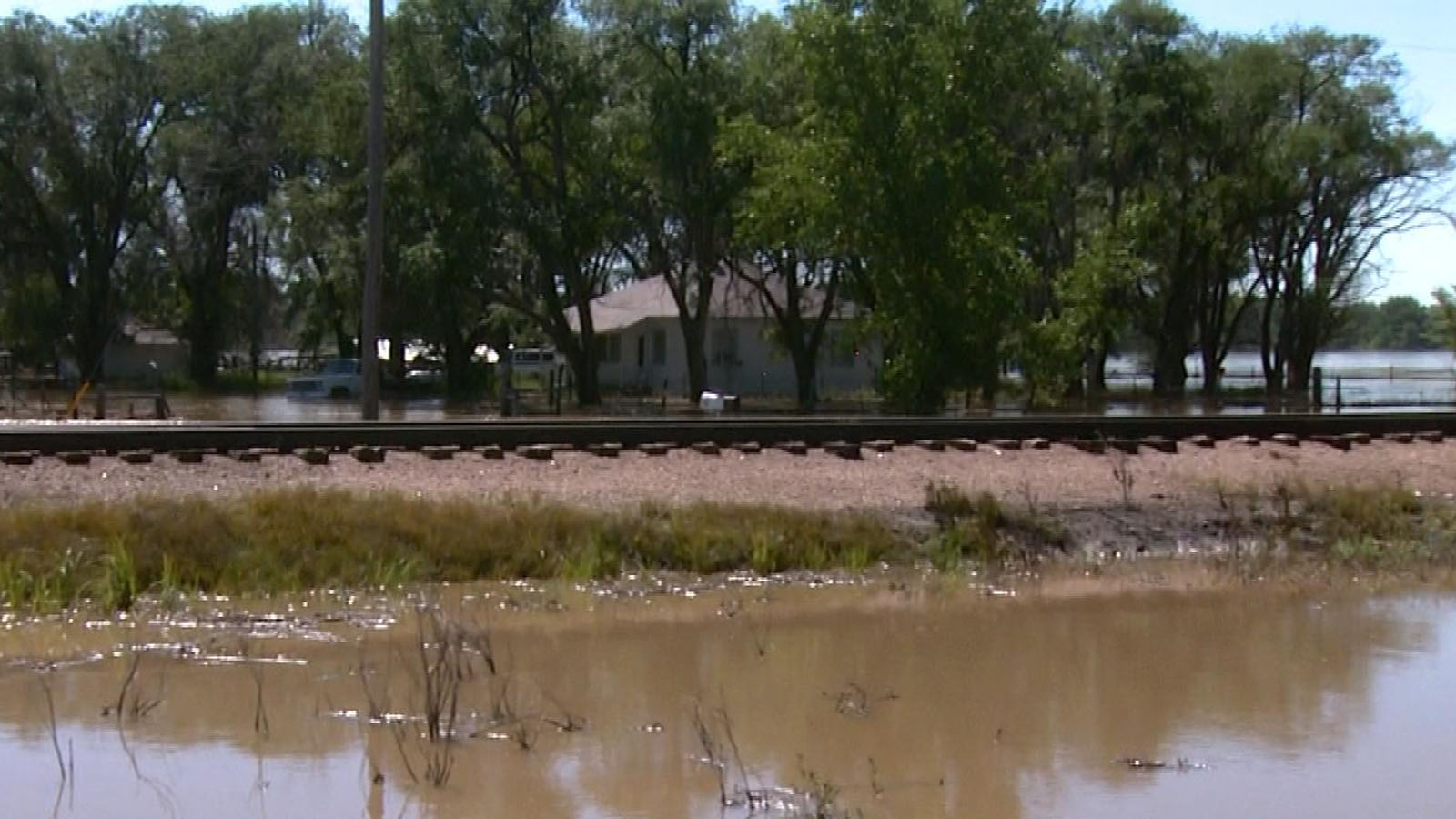 Flooding in Crook on Sept. 17, 2013. (credit: CBS)