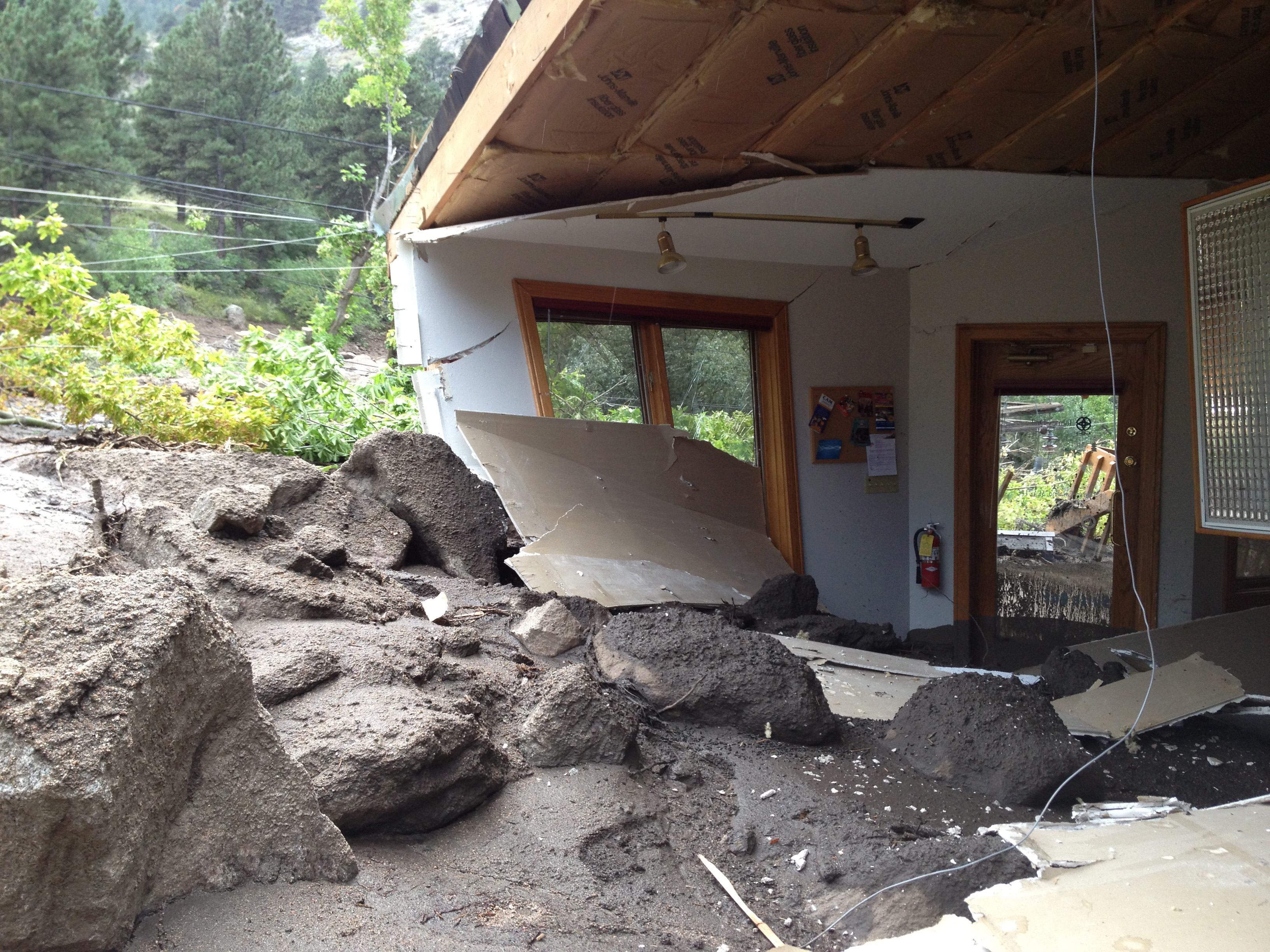 """""""Eugeniemorton"""" sent in this photo of home lost on the backside of Flagstaff Mountain in Boulder County."""
