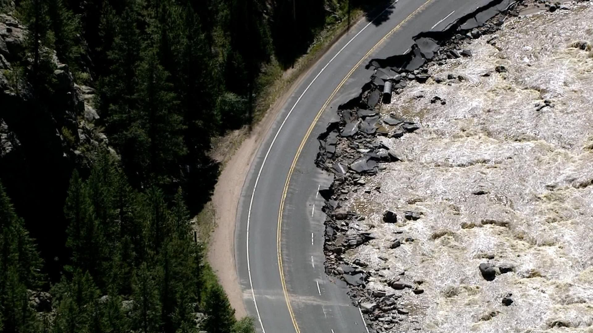 Big Thompson Canyon after the flooding in September, 2103  (credit: CBS)