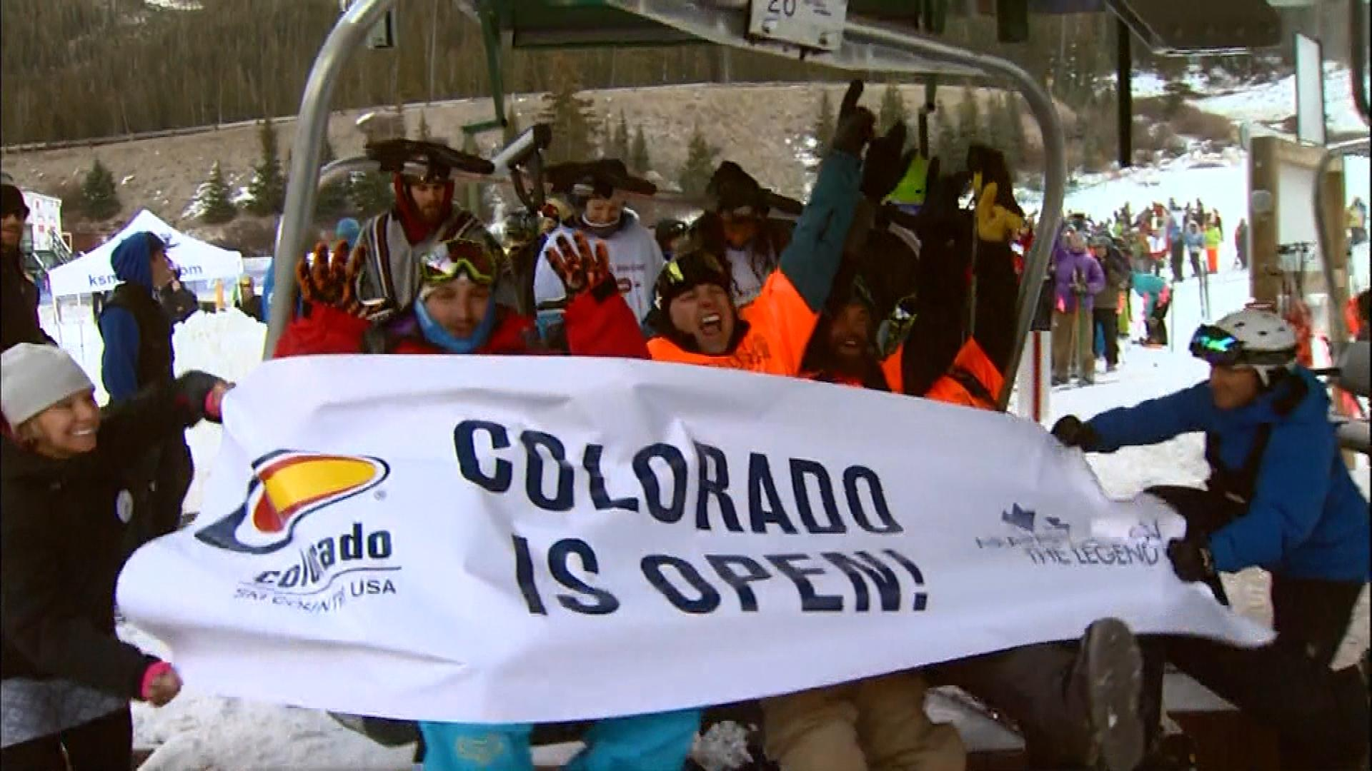 Opening Day at Arapahoe Basin on Sunday (credit: CBS)