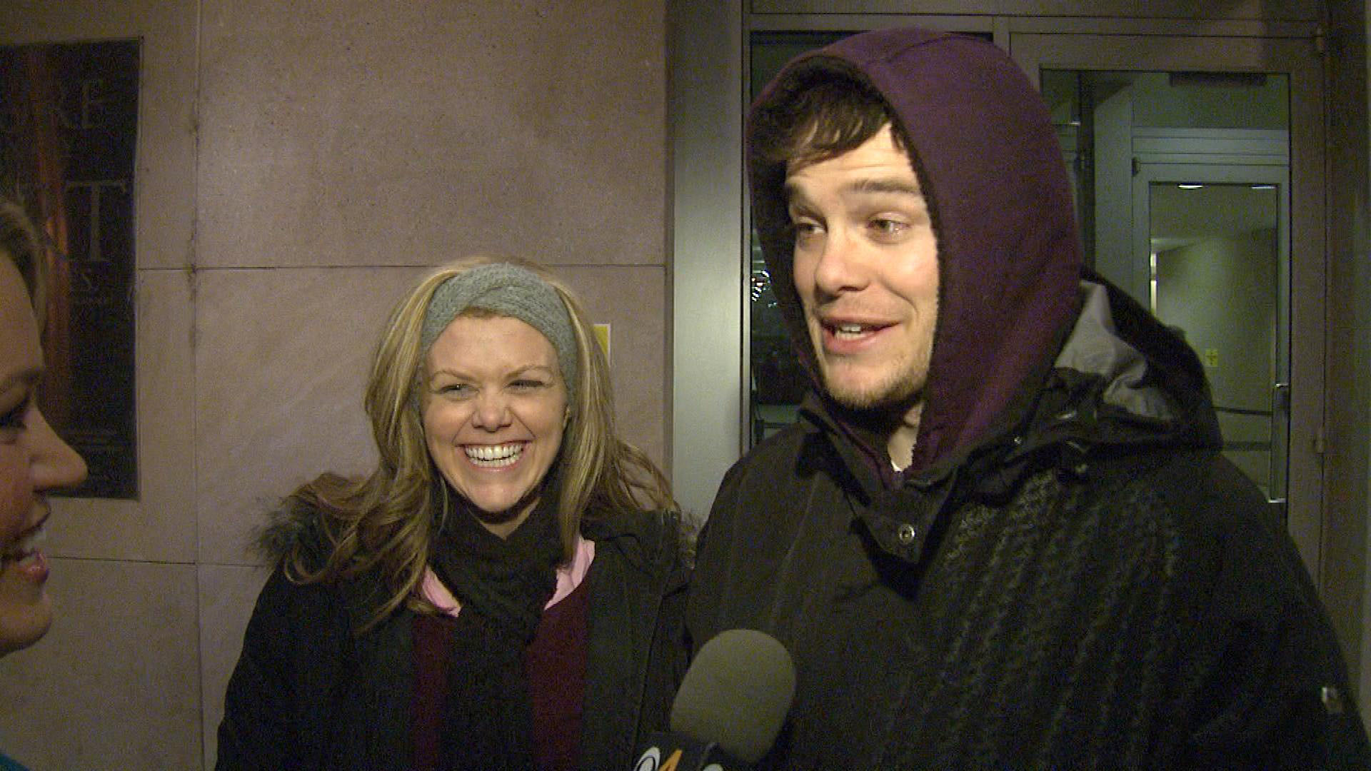 Elise Barber and her fiance Ryan (credit: CBS)