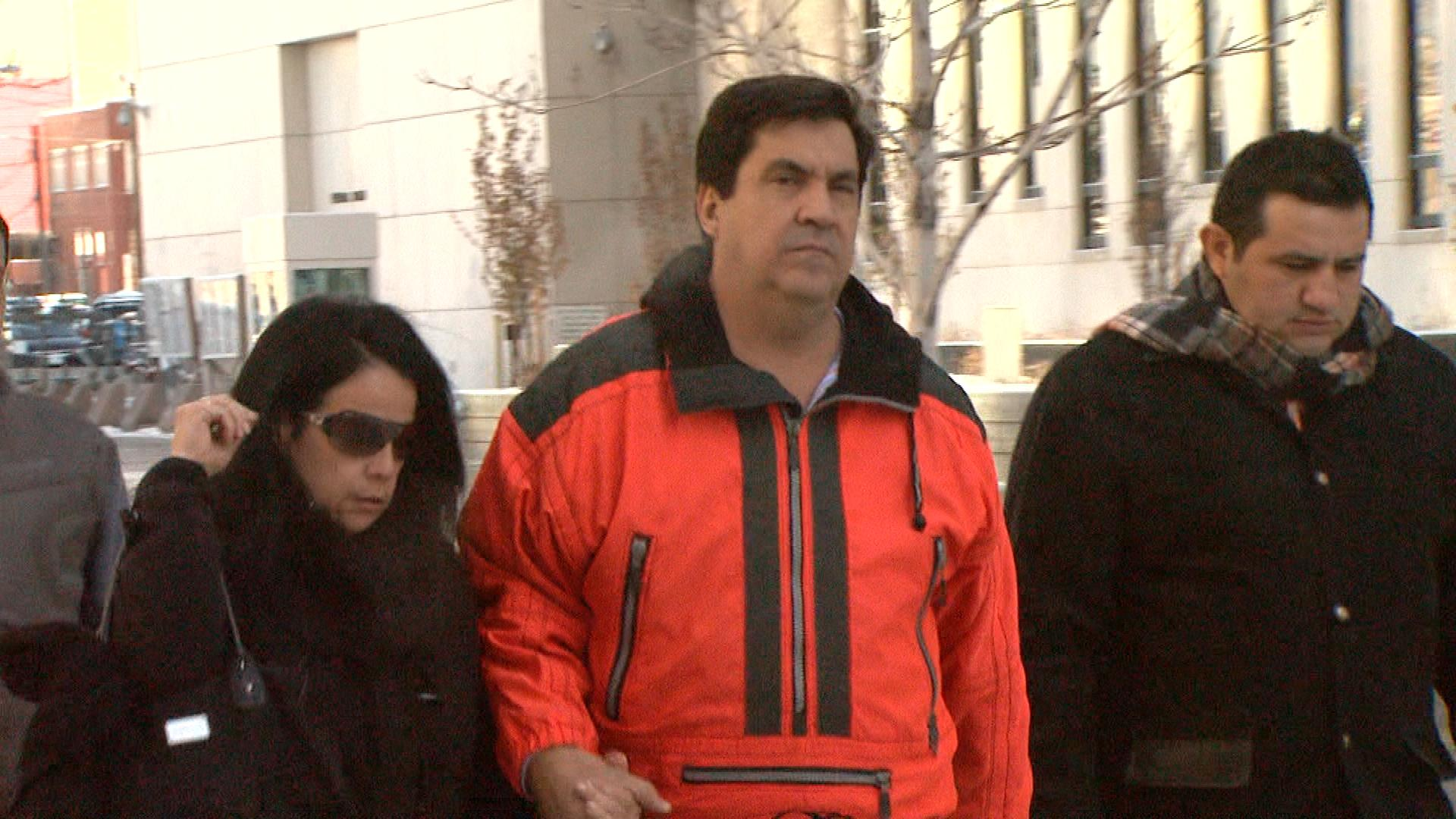 Hector Diaz leaving court on Dec. 6, 2013 (credit: CBS)