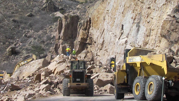 The boulders on Highway 36 (credit: CDOT)