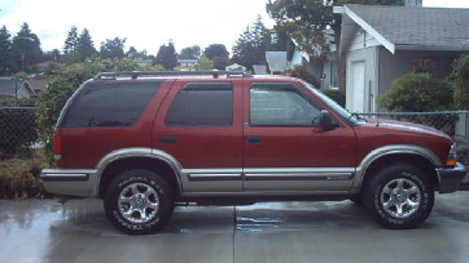 Police in Denver are looking for a red or black 90s Chevy Blazer involved in a hit-and-run at Knox Ct. & 10th Ave. on Feb. 16 (credit: Denver Police)