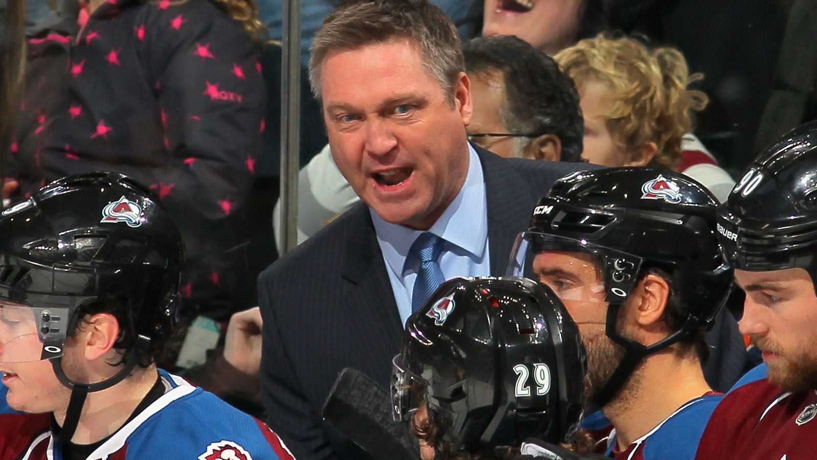 Head coach Patrick Roy of the Colorado Avalanche (credit: Doug Pensinger/Getty Images)