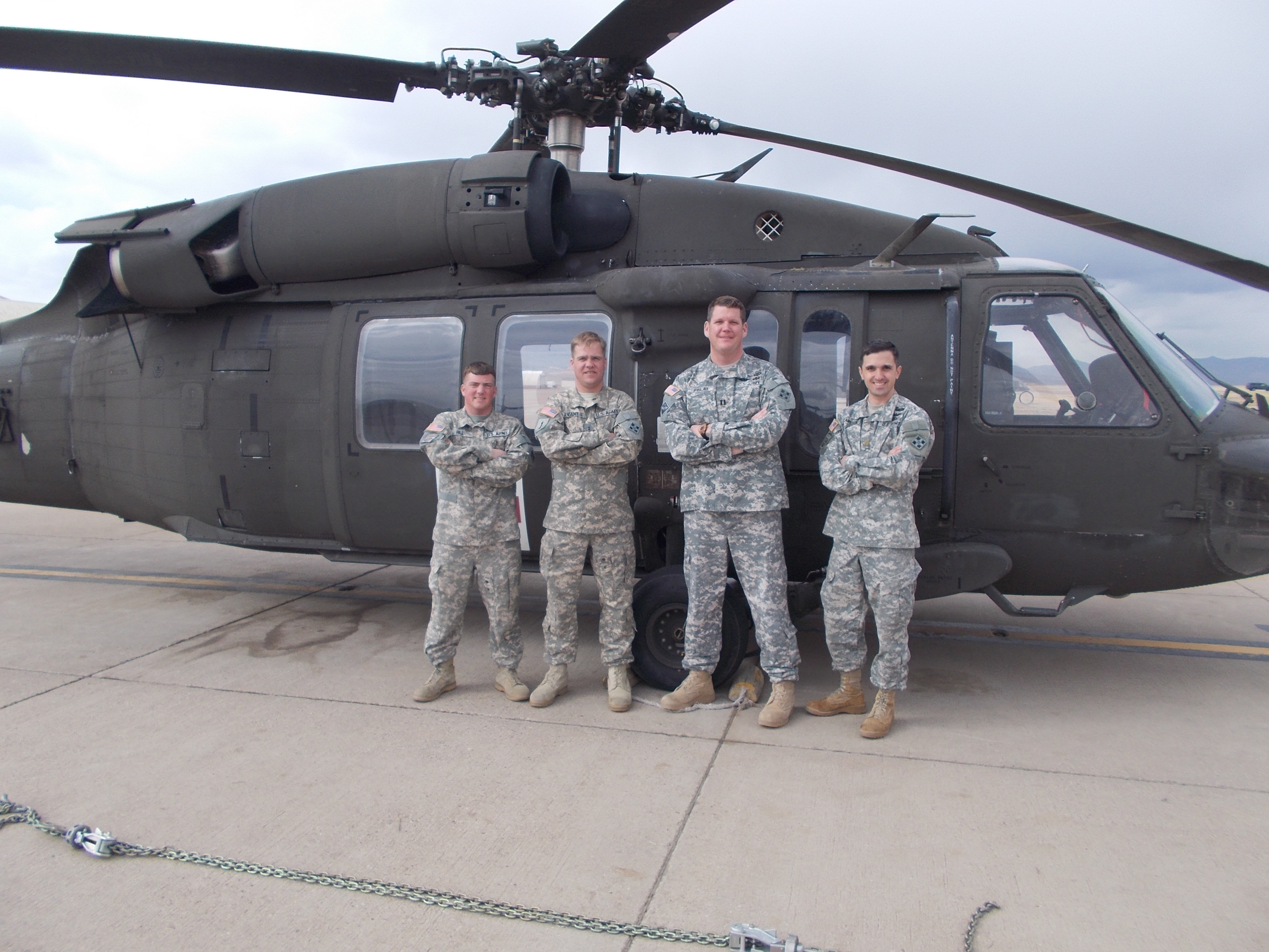 Left to right: Sgt. Justin Hill, CW2 Brennan Avants; Capt. Alec Finlay; Maj. Eric Carlson (credit: Colorado National Guard)
