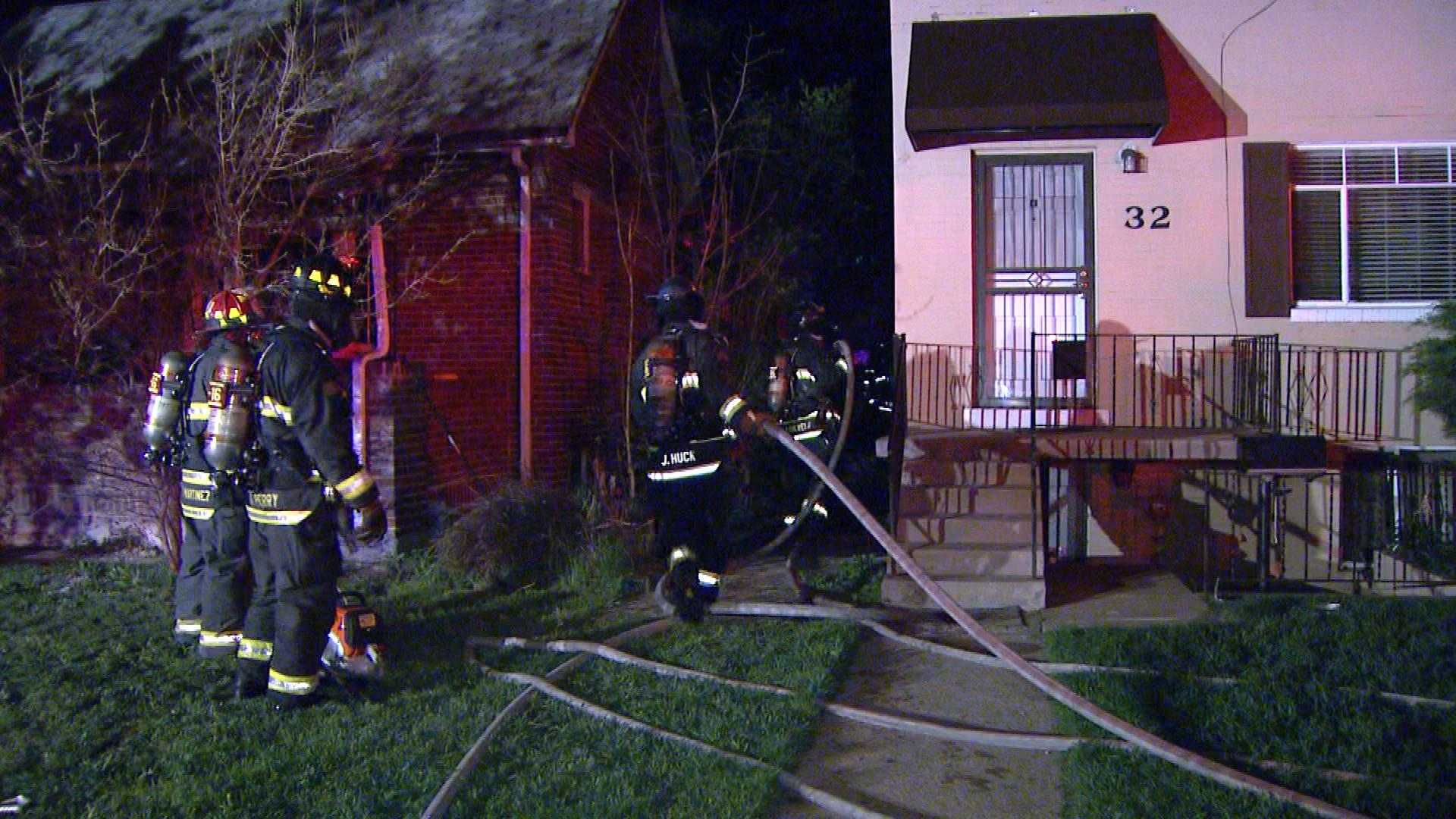 Firefighters respond to a hash oil explosion in Jefferson County (credit: CBS)