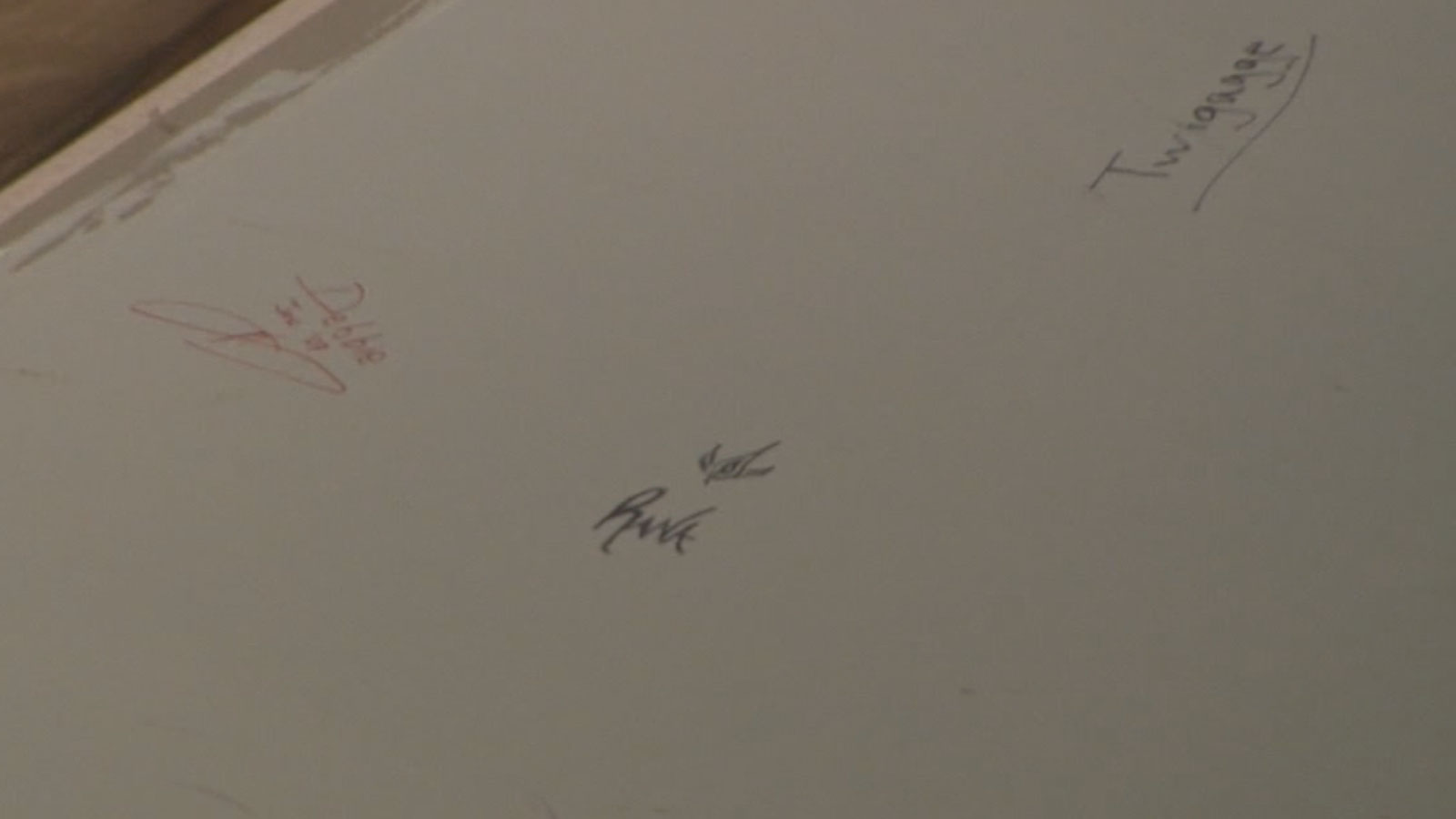 Guests would sign the walls of the Jessup Lodge at Sylvan Dale Ranch in Estes Park (credit: CBS)
